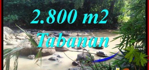 2,800 m2 Land in Tabanan Bali for sale TJTB411